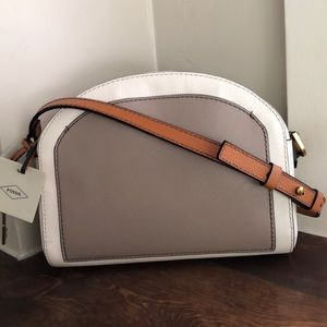 Fossil Chelsea Multi color neutral crossbody NWT